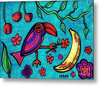 Little Toucan Metal Print by Sarah Loft