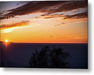 Little Traverse Bay Sunset Metal Print by Onyonet  Photo Studios