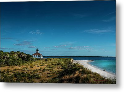 Little White Lighthouse Metal Print by Marvin Spates