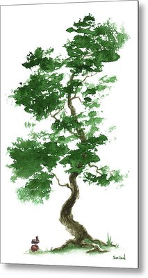 Little Zen Tree 365 Metal Print by Sean Seal