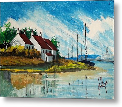 Living At The Mouth Of The White Oak River Metal Print by Jim Phillips