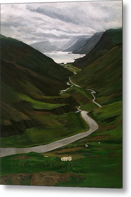 Metal Print featuring the painting Loch Assynt by Jesslyn Fraser