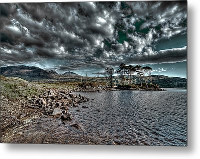 Metal Print featuring the photograph Loch In The Scottish Highland by Gabor Pozsgai