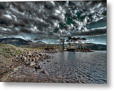 Loch In The Scottish Highland Metal Print by Gabor Pozsgai