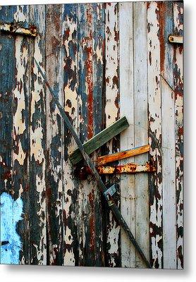 Locked Door Metal Print by Perry Webster