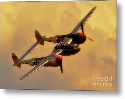 Lockheed P-38 Lightning 2011 Chino Air Show Metal Print