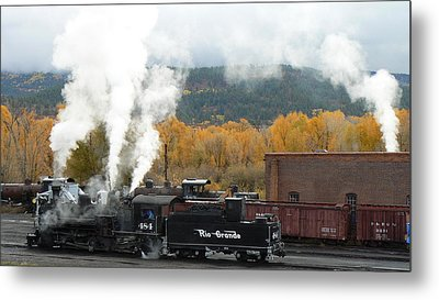 Metal Print featuring the photograph Locomotive At Chama by Scott Rackers