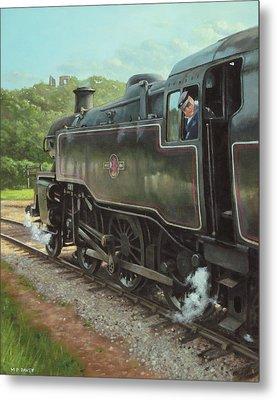 Locomotive At Swanage Railway Metal Print