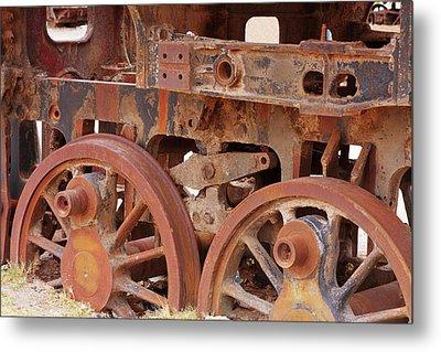 Locomotive In The Desert Metal Print by Aidan Moran