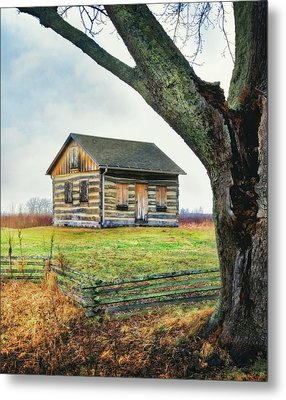 Metal Print featuring the photograph Log Cabin - Paradise Springs - Kettle Moraine State Forest by Jennifer Rondinelli Reilly - Fine Art Photography