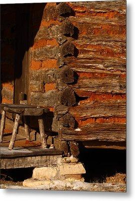 Log Cabin Metal Print by Robert Frederick