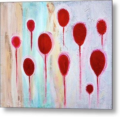 Metal Print featuring the painting Lollipop Garden by Frank Tschakert