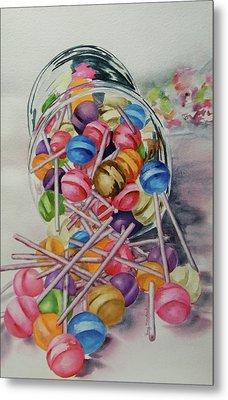 Lollypops Metal Print by Terry Honstead