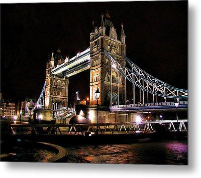 London Bridge At Night Metal Print by Dean Wittle