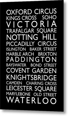 London Bus Roll Metal Print by Michael Tompsett