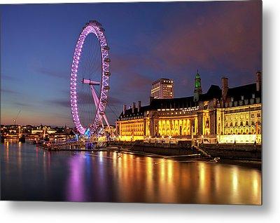 London Eye Metal Print by Stuart Stevenson photography