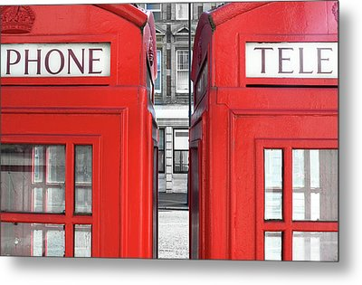 London Telephones Metal Print by Richard Newstead