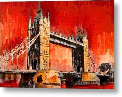 London Tower Bridge 12 - Pa Metal Print by Leonardo Digenio
