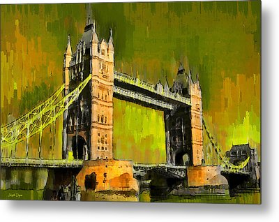 London Tower Bridge 15 - Pa Metal Print by Leonardo Digenio