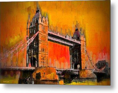 London Tower Bridge 19 - Da Metal Print by Leonardo Digenio