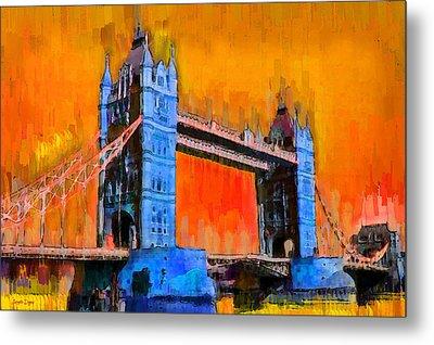 London Tower Bridge 2 - Da Metal Print by Leonardo Digenio
