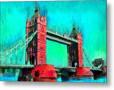 London Tower Bridge 5 - Pa Metal Print
