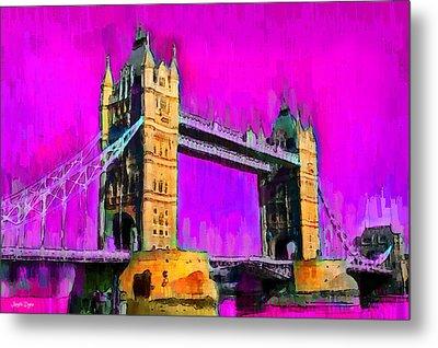 London Tower Bridge 9 - Da Metal Print