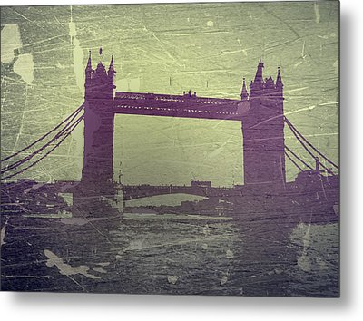 London Tower Bridge Metal Print by Naxart Studio