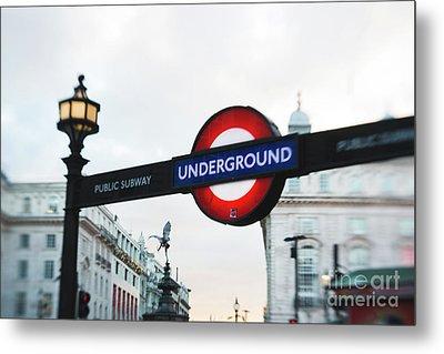 London Underground Metal Print by Sonja Quintero