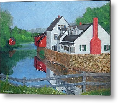 Londonderry Vermont Metal Print by Fred Jinkins