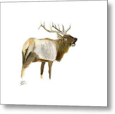 Lone Elk Metal Print