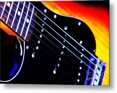 Metal Print featuring the photograph Lone Guitar by Baggieoldboy