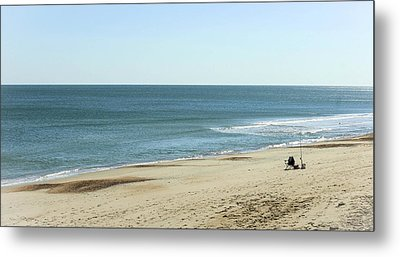 Lonely Chair On The Beach Metal Print