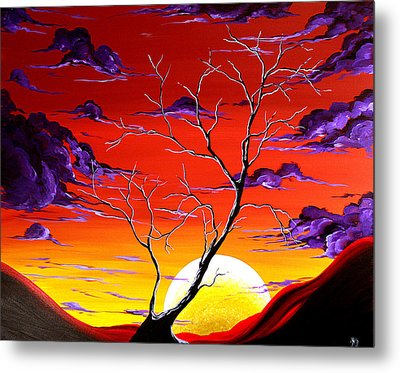 Lonely Soul By Madart Metal Print by Megan Duncanson
