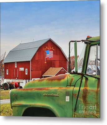 Metal Print featuring the photograph Long May She Wave by DJ Florek