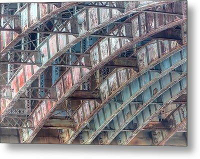 Longfellow Bridge Arches II Metal Print by Clarence Holmes