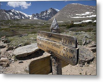 Longs Peak Seen From Chasm Lake Trail Metal Print