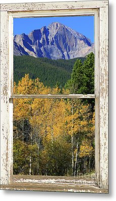 Longs Peak Window View Metal Print