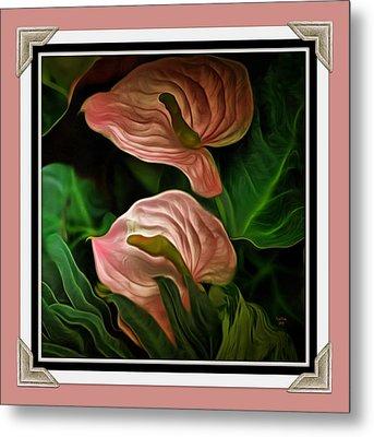 Longwood Lilies Metal Print by Trish Tritz