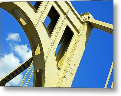 Look Up Pittsburgh Pa Metal Print by Kristen Vota