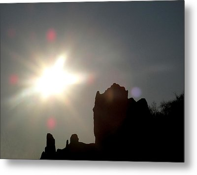 Looking At The Sun  Metal Print by Lyle Crump