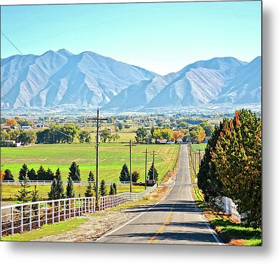 Looking East From West Mountain Metal Print
