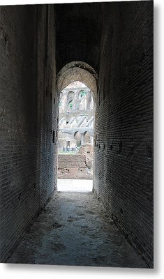 Looking Into The Colosseum Metal Print by Armand Hebert