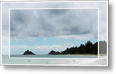Looking Towards Lanikai Beach Metal Print