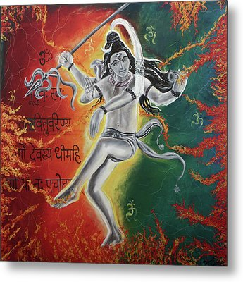 Lord Shiva-the Cosmic Dance Metal Print by Tamanna  Sagar