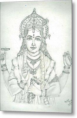 Lord Vishnu Metal Print by Archit Singh
