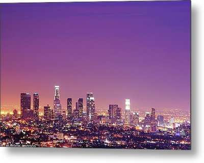 Los Angeles At Dusk Metal Print