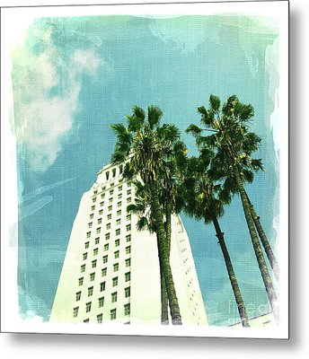 Los Angeles City Hall 2 Metal Print by Nina Prommer