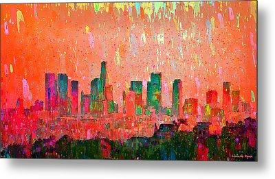 Los Angeles Skyline 3 - Pa Metal Print