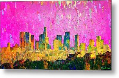 Los Angeles Skyline 8 - Da Metal Print by Leonardo Digenio